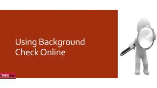 Using Background Check Online