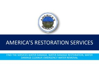 Water damage restoration - Fix by specialized professionals only