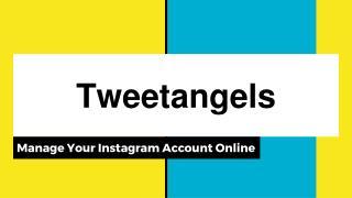 Tweetangels - Manage Your Instagram Online