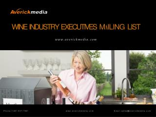 Wine Industry Executives Mailing List