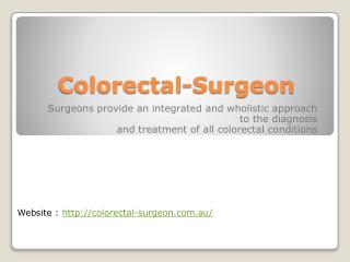 Colorectal surgeon