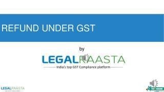 Refund Under GST