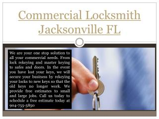 Emergency Locksmith Jacksonville FL