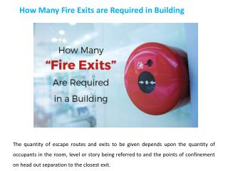 How Many Fire Exits Are Required in a Building