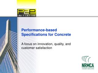 Performance-based Specifications for Concrete