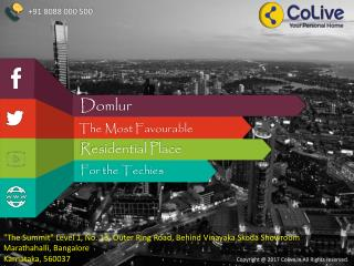 Domlur, the Most Favourable Residential Place for the Techies