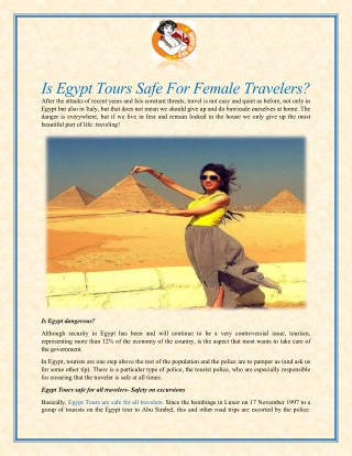 Is Egypt Tours Safe For Female Travelers?