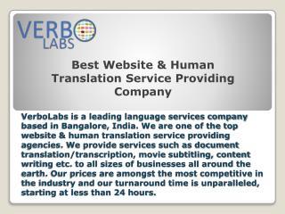 Best Website & Human Translation Service Providing Company