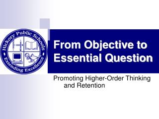 From Objective to Essential Question