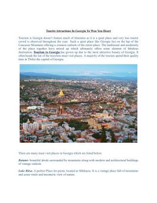 Tourism to georgia with eldorado tour