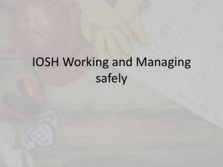 IOSH course in Chennai