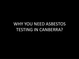 asbestos testing canberra