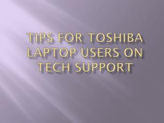 Toshiba Support Australia providing technical help for all Toshiba users.