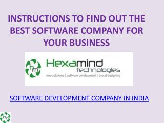 Software development in Mohali | Solid information architecture design | Top software development companies in Punjab