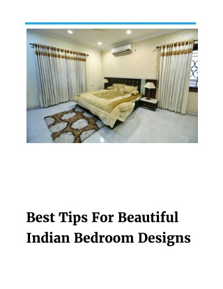 Top 7 Indian Bedroom Designs By Aditya Constructions Hyderabad