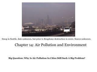 Chapter 14: Air Pollution and Environment