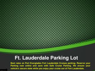 Fort Lauderdale Cruise Parking