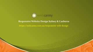 Responsive Web Design Canberra