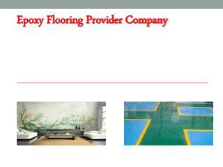 Epoxy Flooring Provider Company