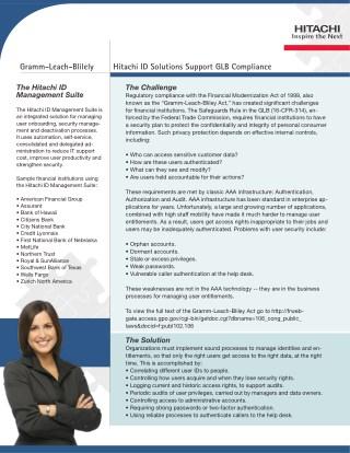 GLB - Gramm-Leach-Bliley Act Brochure
