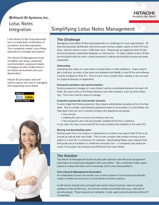 Simplifying Lotus Notes ID and Password Management Brochure