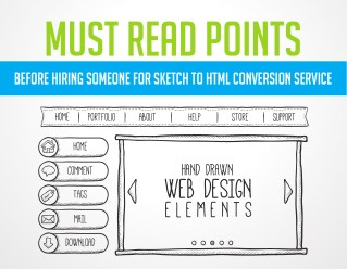 Sketch to html conversion services