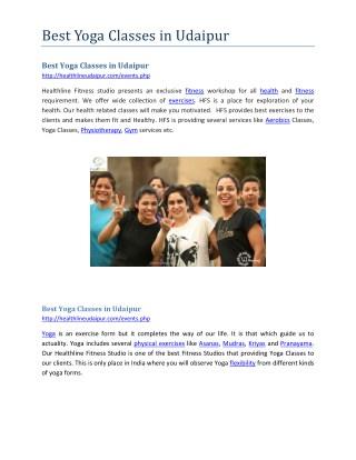 Best yoga classes in udaipur