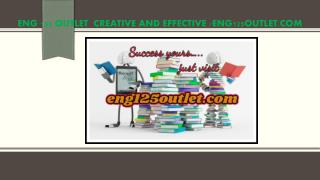 ENG 125 OUTLET  Creative and Effective /eng125outlet.com