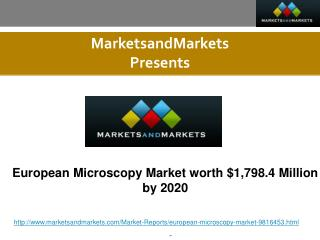 European Microscopy Market Forecast to 2020