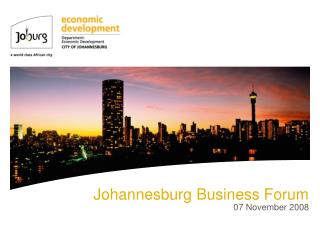 Johannesburg Business Forum