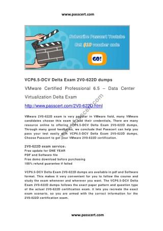 VCP6.5-DCV Delta Exam 2V0-622D dumps