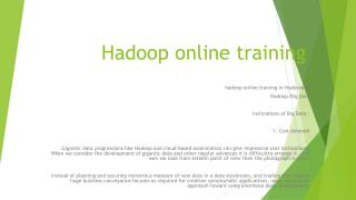 hadoop online course hyderabad