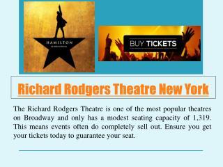 Richard Rodgers Theatre New York