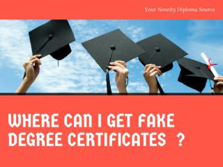 The Best Collection Of Fake Diploma Samples