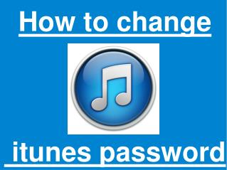 How to reset iTunes password