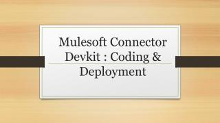 Mulesoft connector devkit