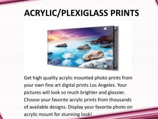 Acrylic Mounted Photo Prints in US