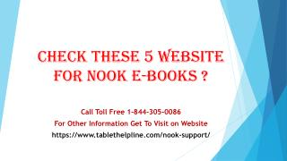 Check these 5 websites for Nook eBooks