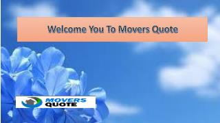 International Movers - MOVERS QUOTE