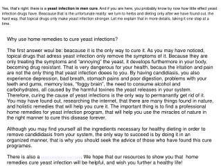 Yeast infection in men cure works