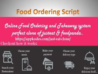What could you Achieve with Online Food Ordering Script