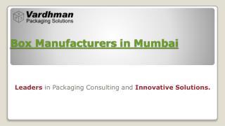 Box manufacturers in mumbai