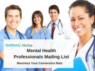 Mental Health Professionals Mailing List