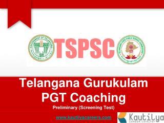 TSPSC Gurukulas PGT Telugu Medium - Online Training