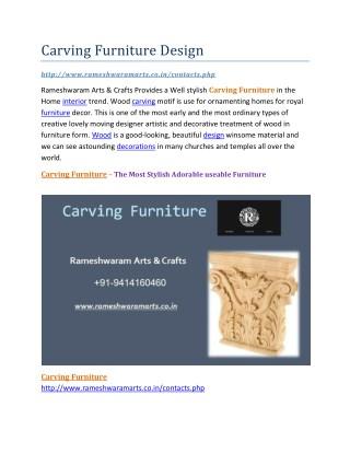 Carving Furniture Design