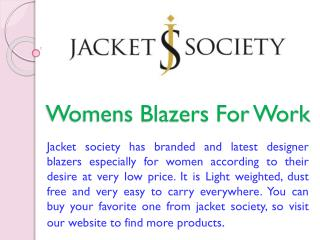 Womens Blazers For Work