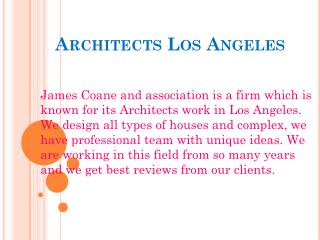 Architects Los Angeles