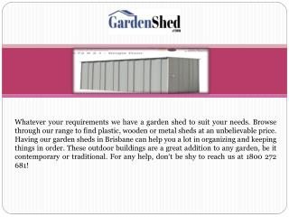 Garden Sheds Perth