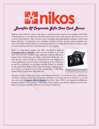 Benefits Of Corporate Gifts Over Cash Bonus