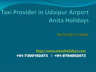 Taxi Provider in Udaipur Airport